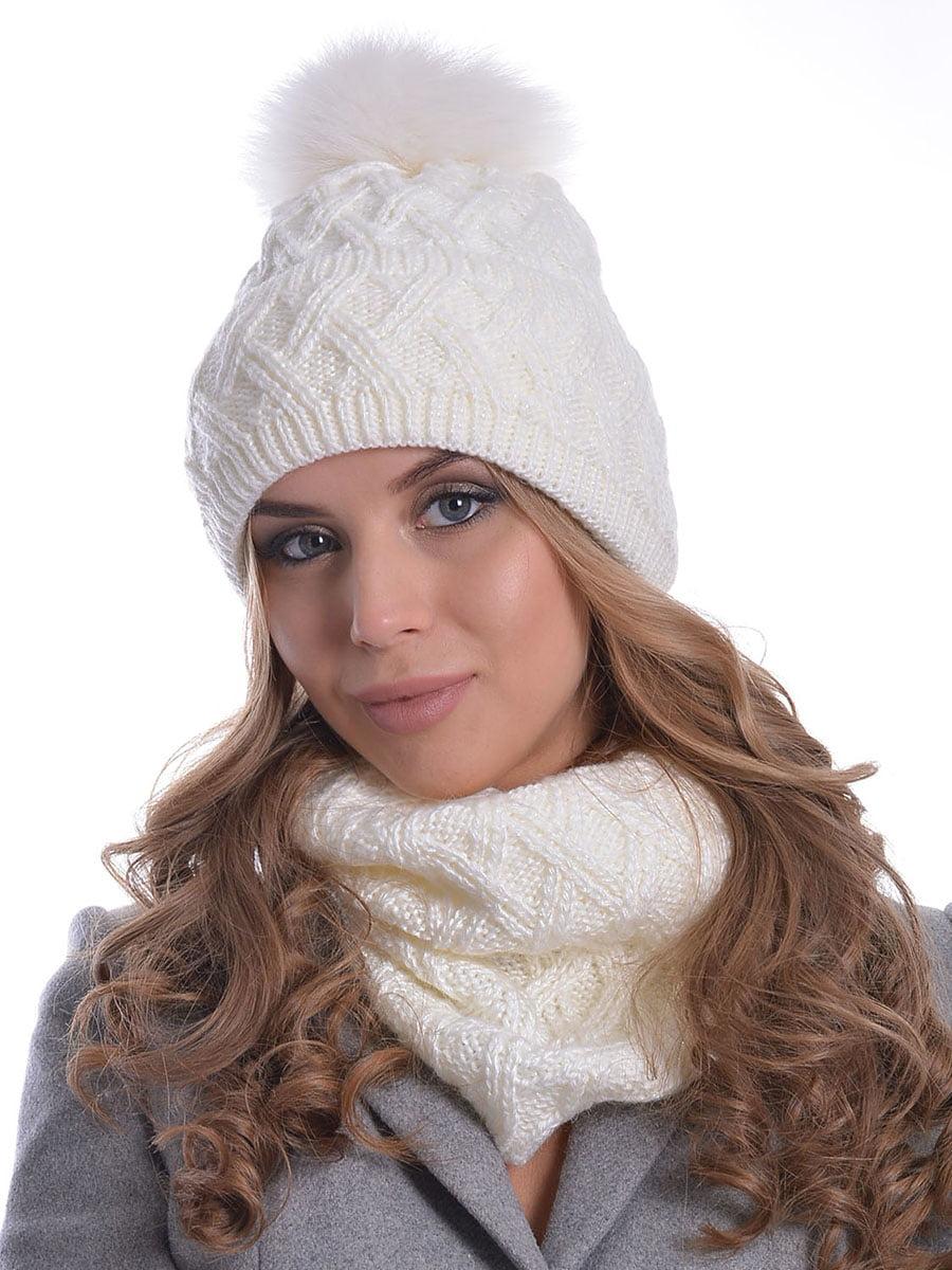 Комплект: шапка і шарф | 5259097