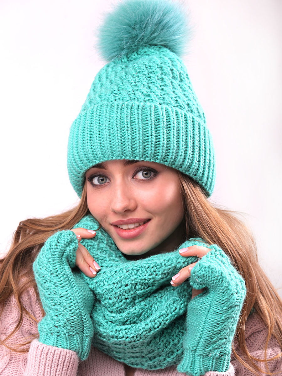 Комплект: шапка, хомут і рукавички | 5227683