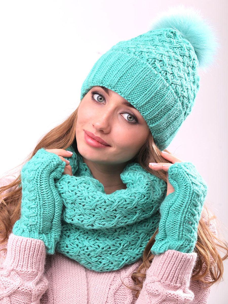 Комплект: шапка, хомут і рукавички | 5227686
