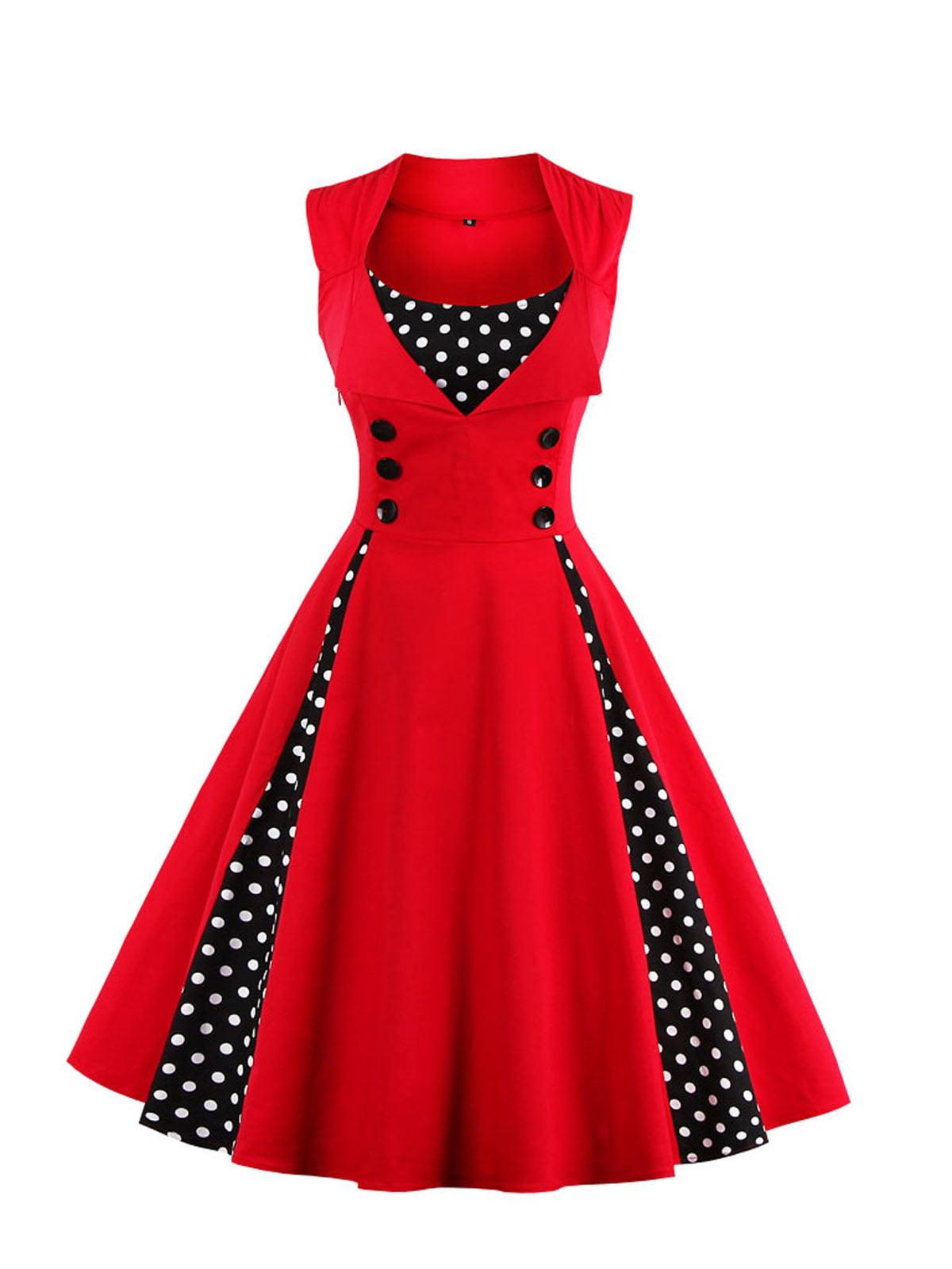 Сукня червоно-чорна з принтом   5261410