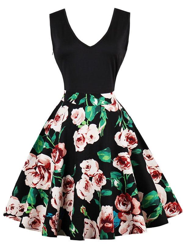 Сукня чорна з принтом   5261417