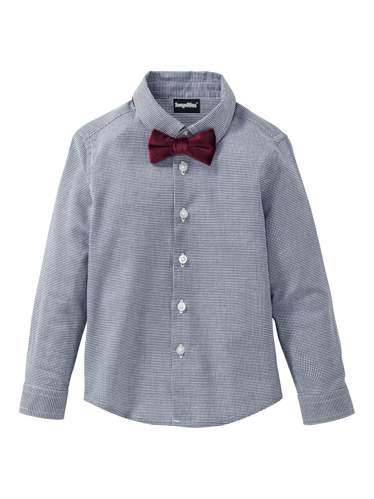 Рубашка с галстуком-бабочкой серая | 5262127