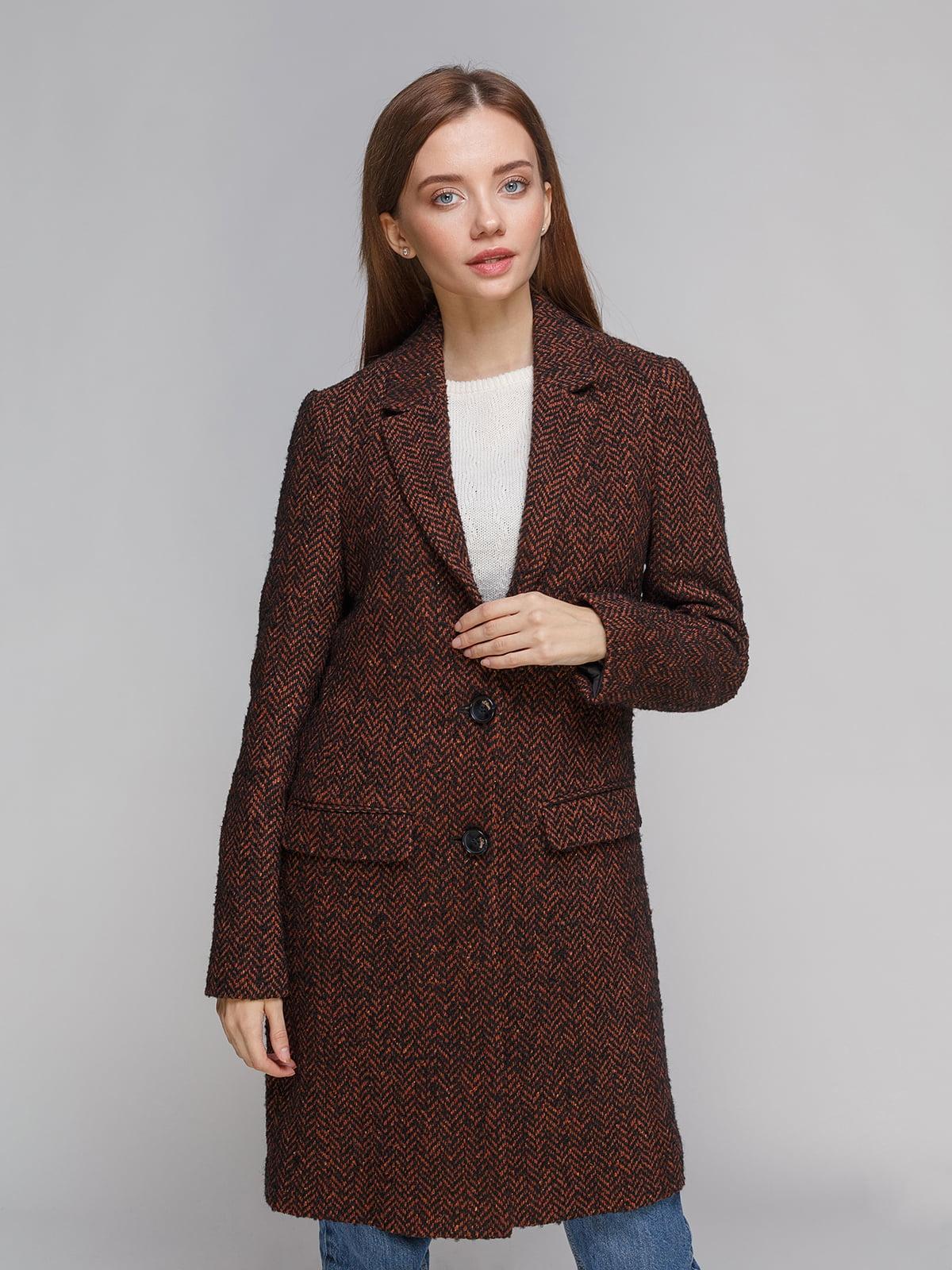 Пальто коричневе | 5262404