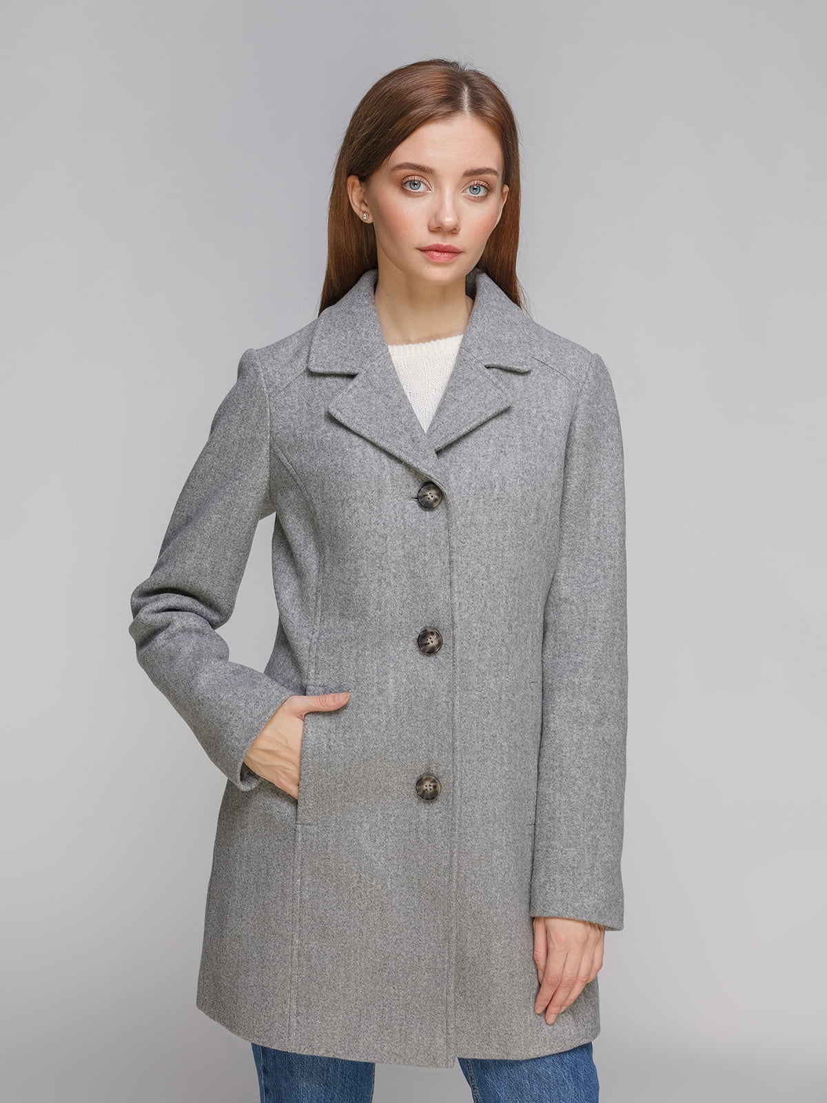 Пальто сіре | 5245547