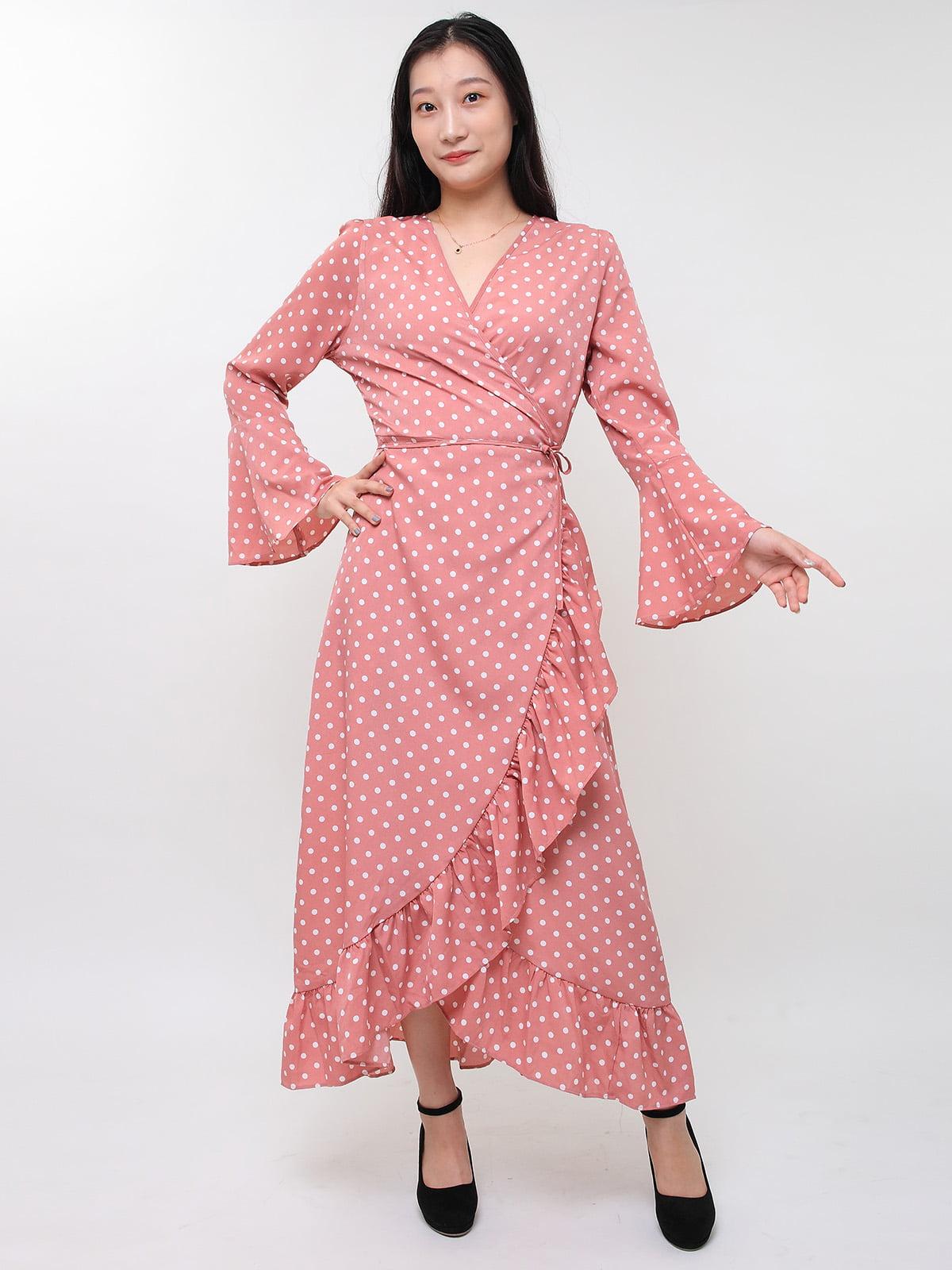 Сукня рожева в горох | 5263634