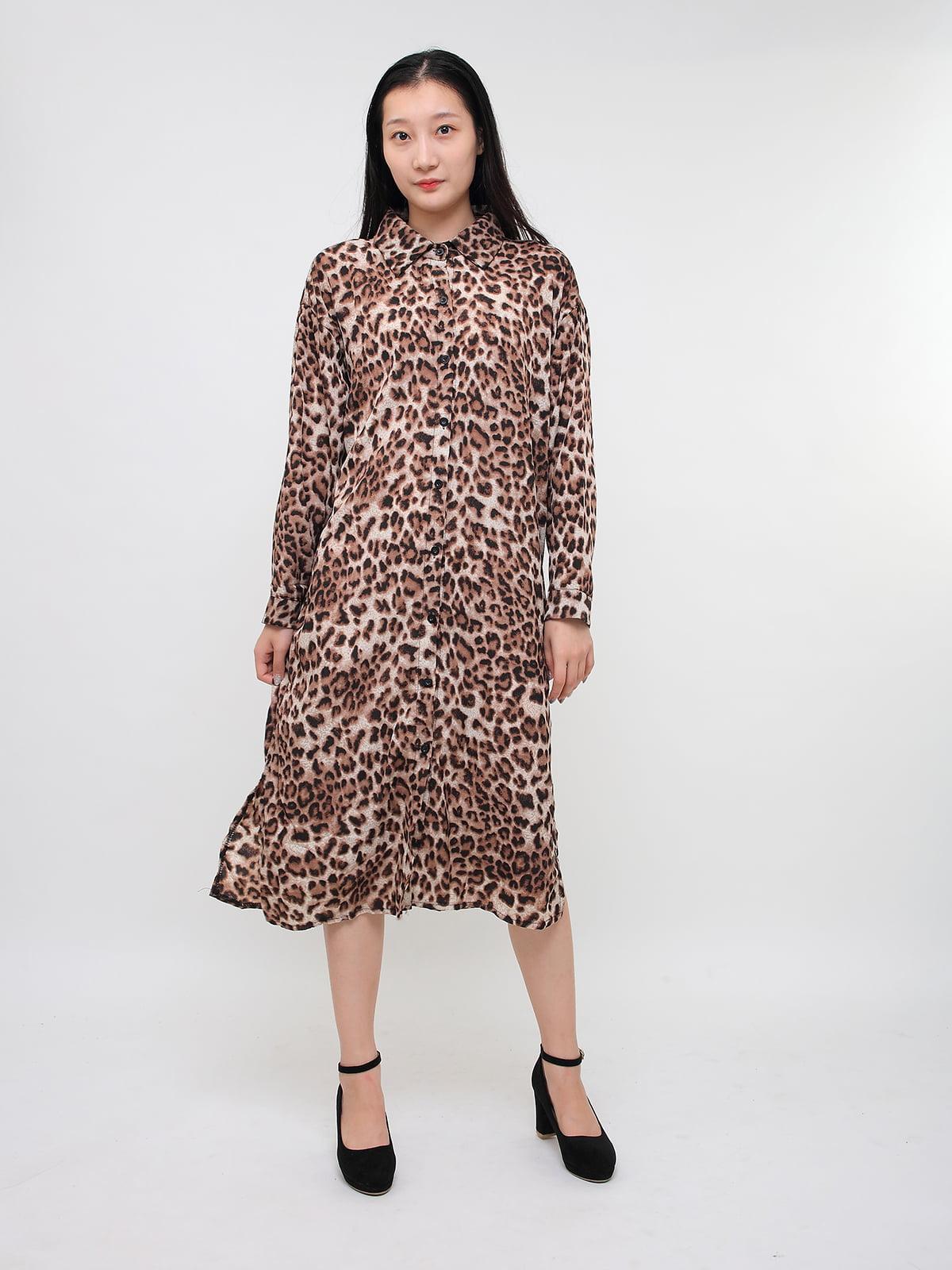 Сукня в леопардовий принт | 5263646