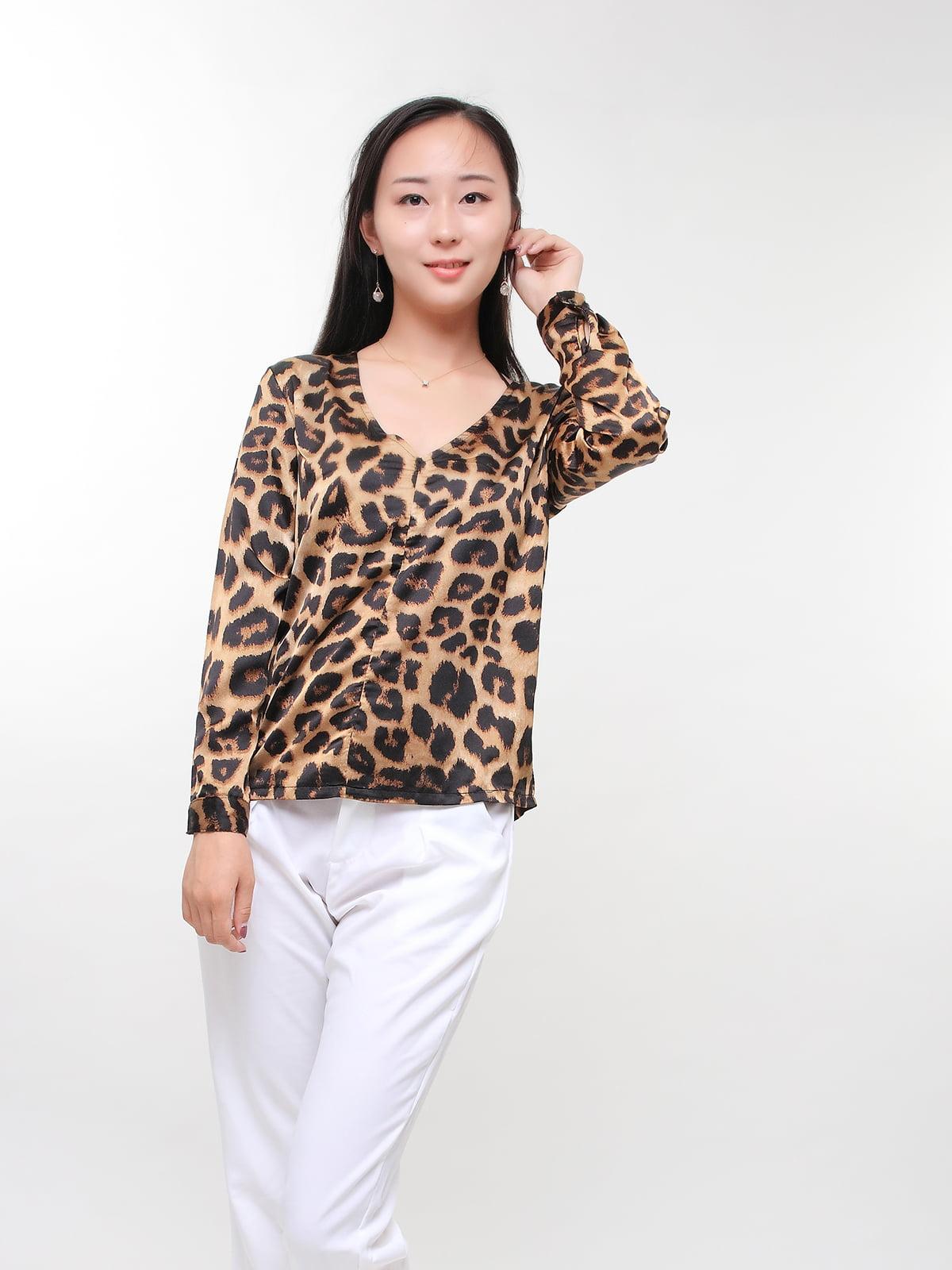 Блуза в леопардовий принт | 5263655