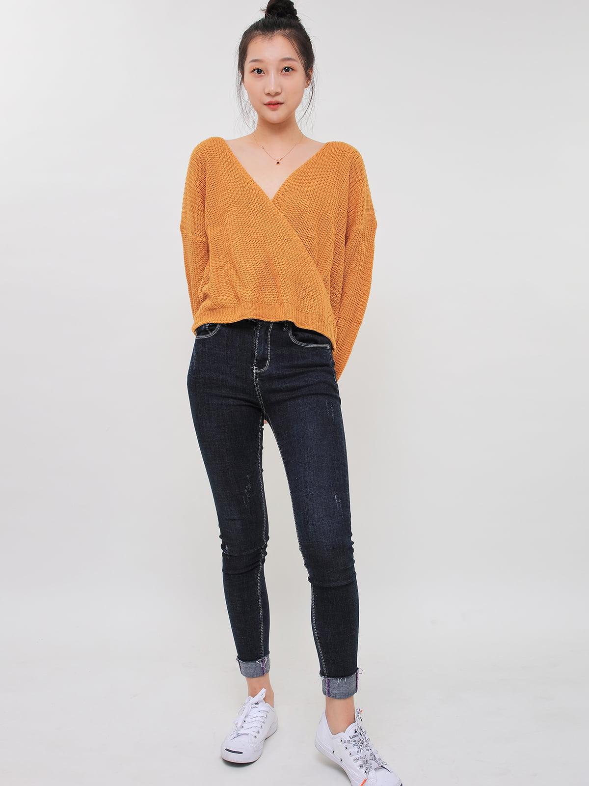 Пуловер горчичного цвета | 5263658