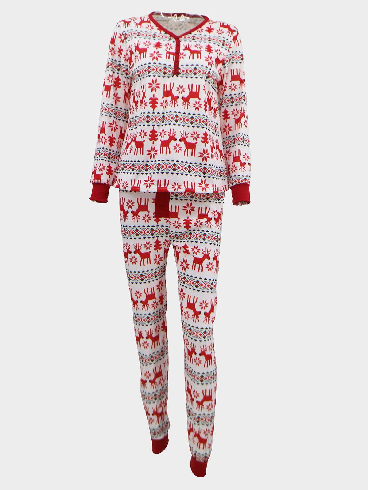 Новогодний комплект: блуза и брюки | 5263717