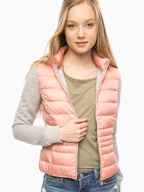 Куртка рожево-сіра | 5245573