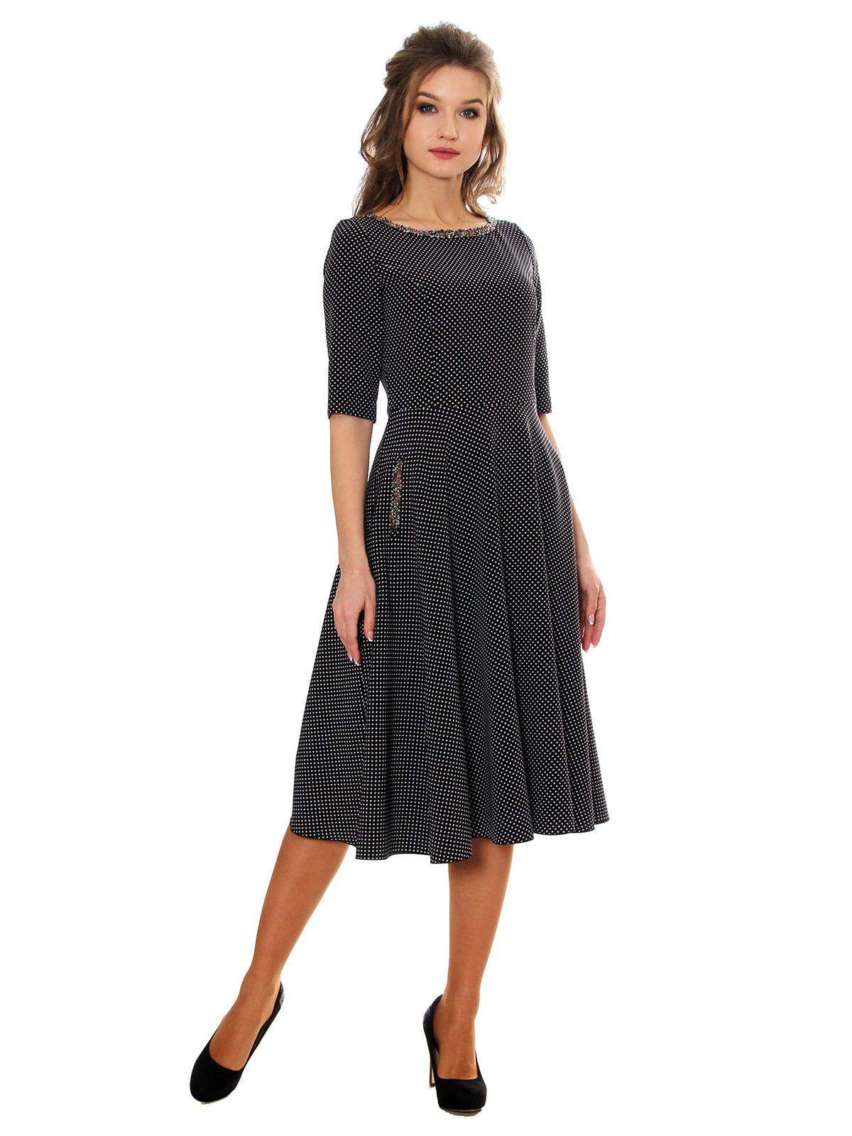 Платье черное в горошек | 5262695
