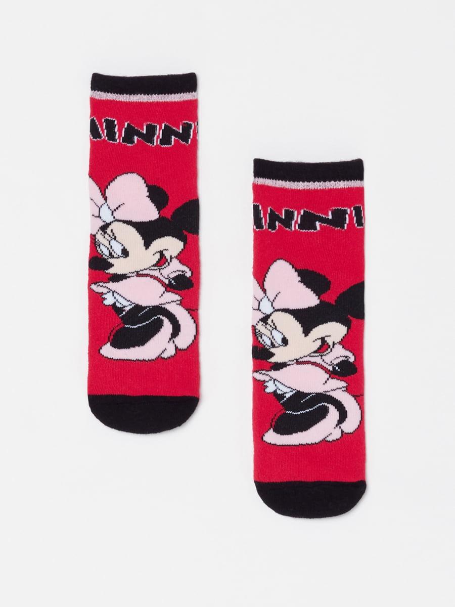 Шкарпетки червоні з принтом | 5183551
