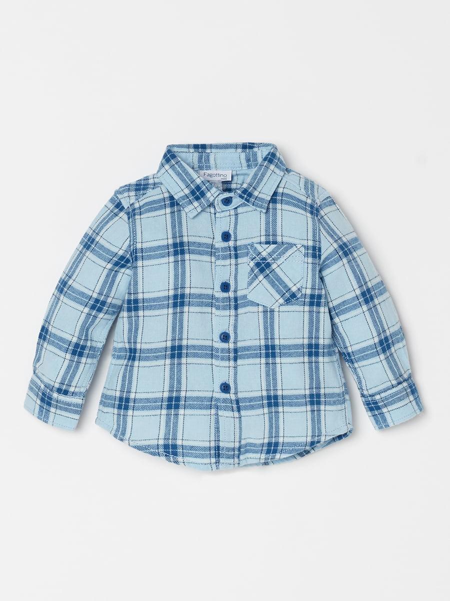 Сорочка блакитна | 5201078