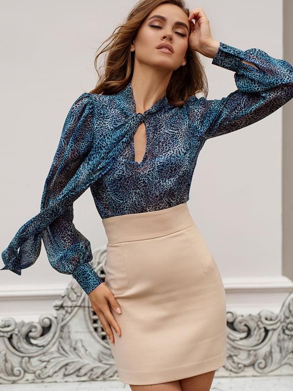 Блуза анималистической расцветки | 5258843