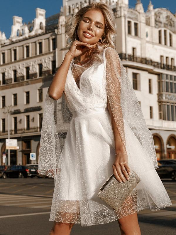 Платье серебристо-белое   5258867