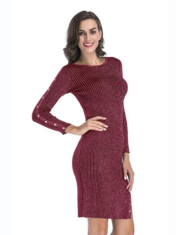 Платье бордовое   5268077