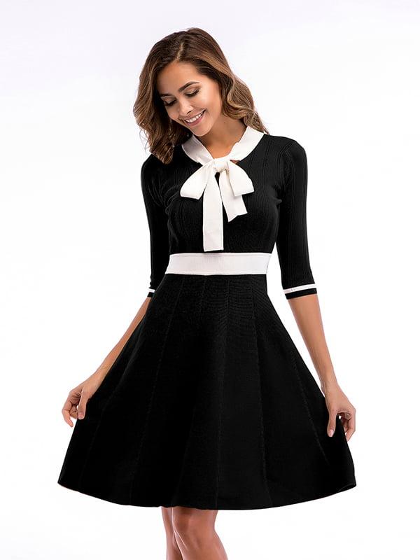 Платье черно-белое | 5268088