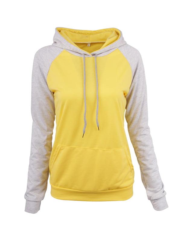 Свитшот серо-желтый | 5268145