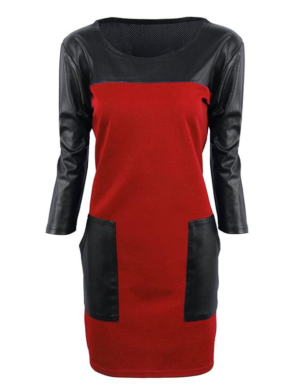 Платье красно-черное   5268155