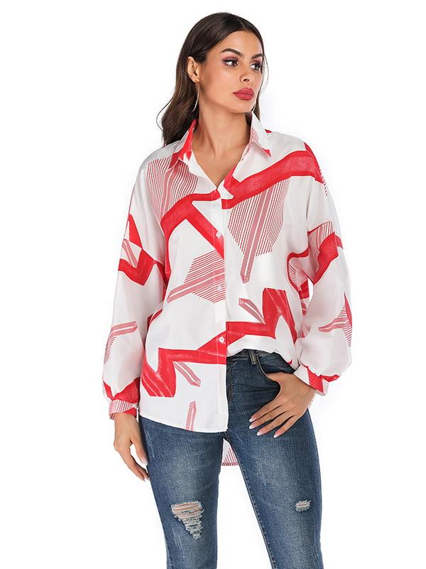 Рубашка бело-красная   5268295