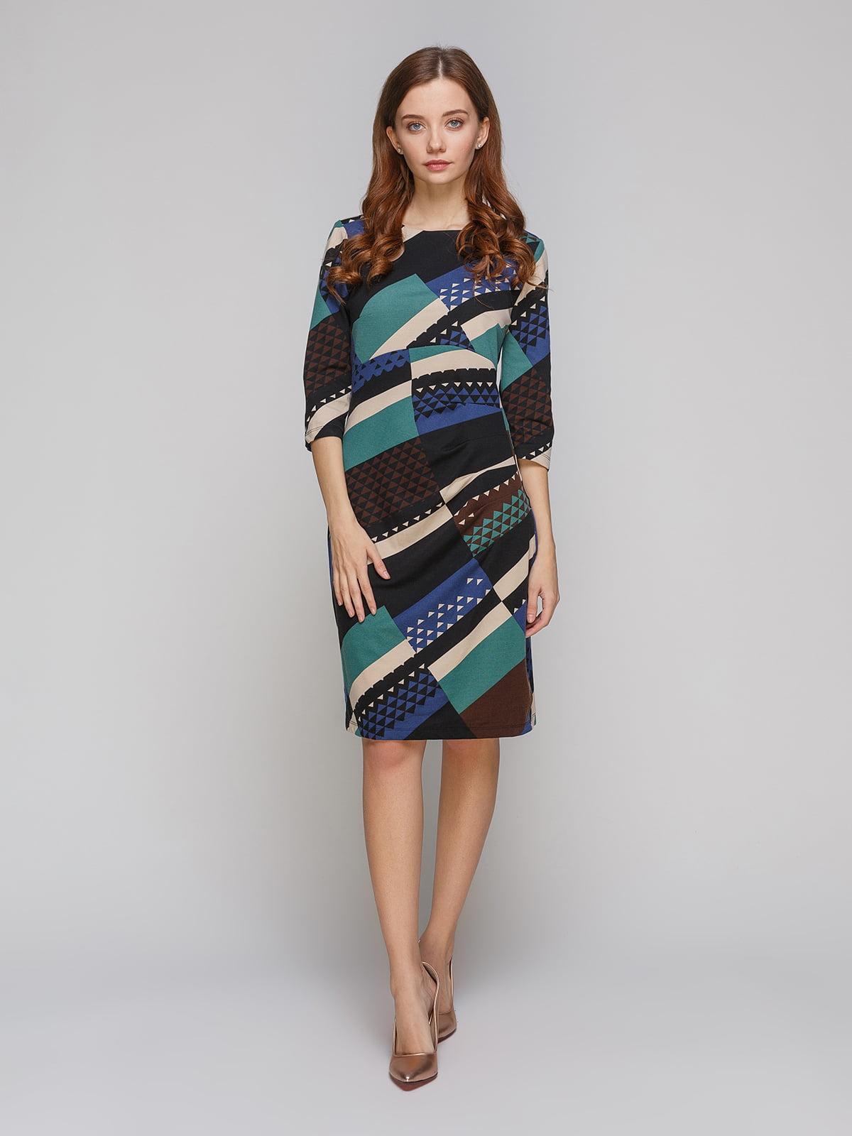 Платье черно-синее | 5266092