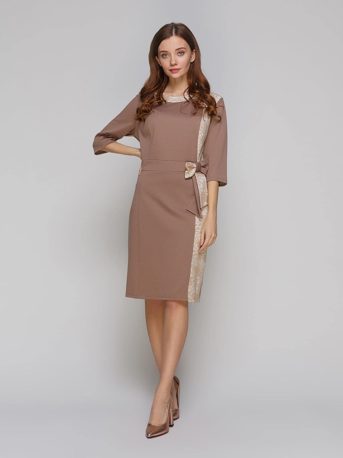 Платье кофейного цвета | 5266133