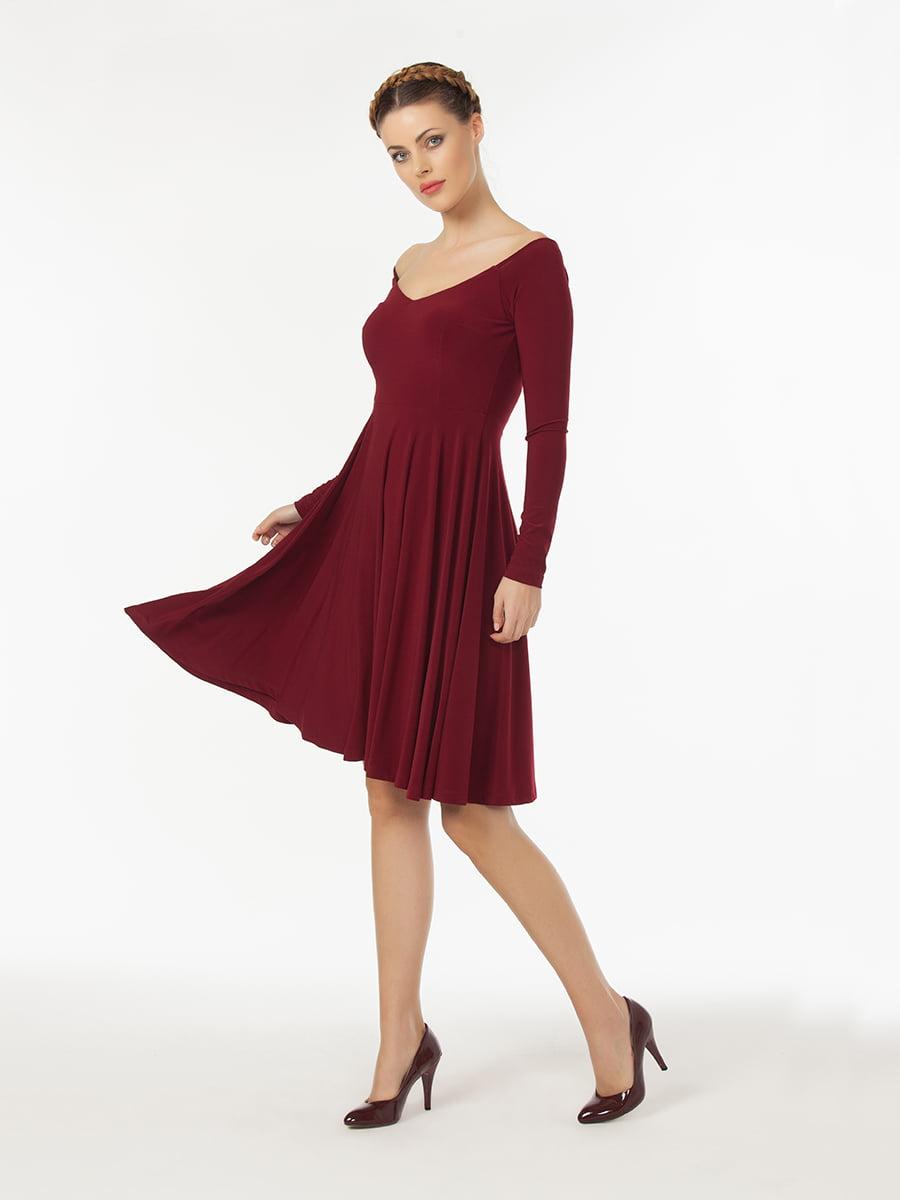 Платье бордовое   5268422
