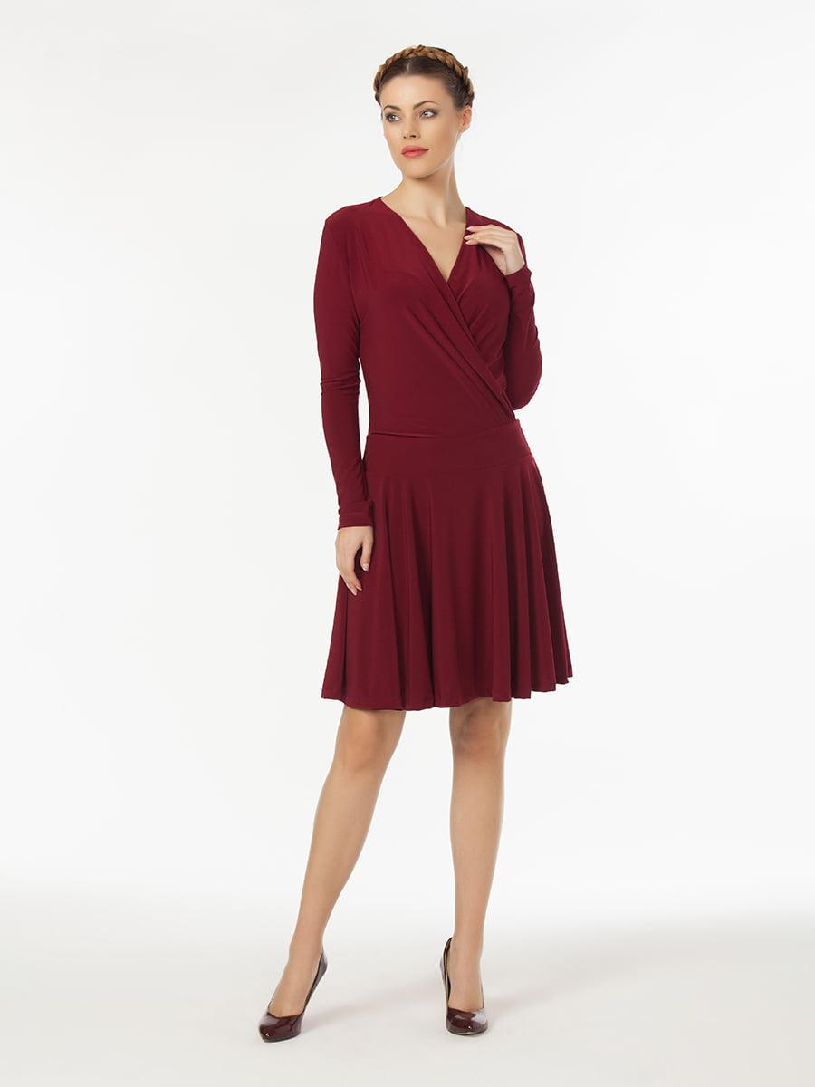 Платье бордовое   5268438