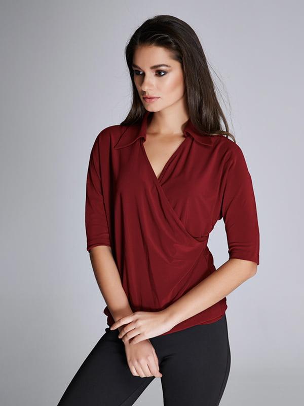 Блуза бордовая | 5268501