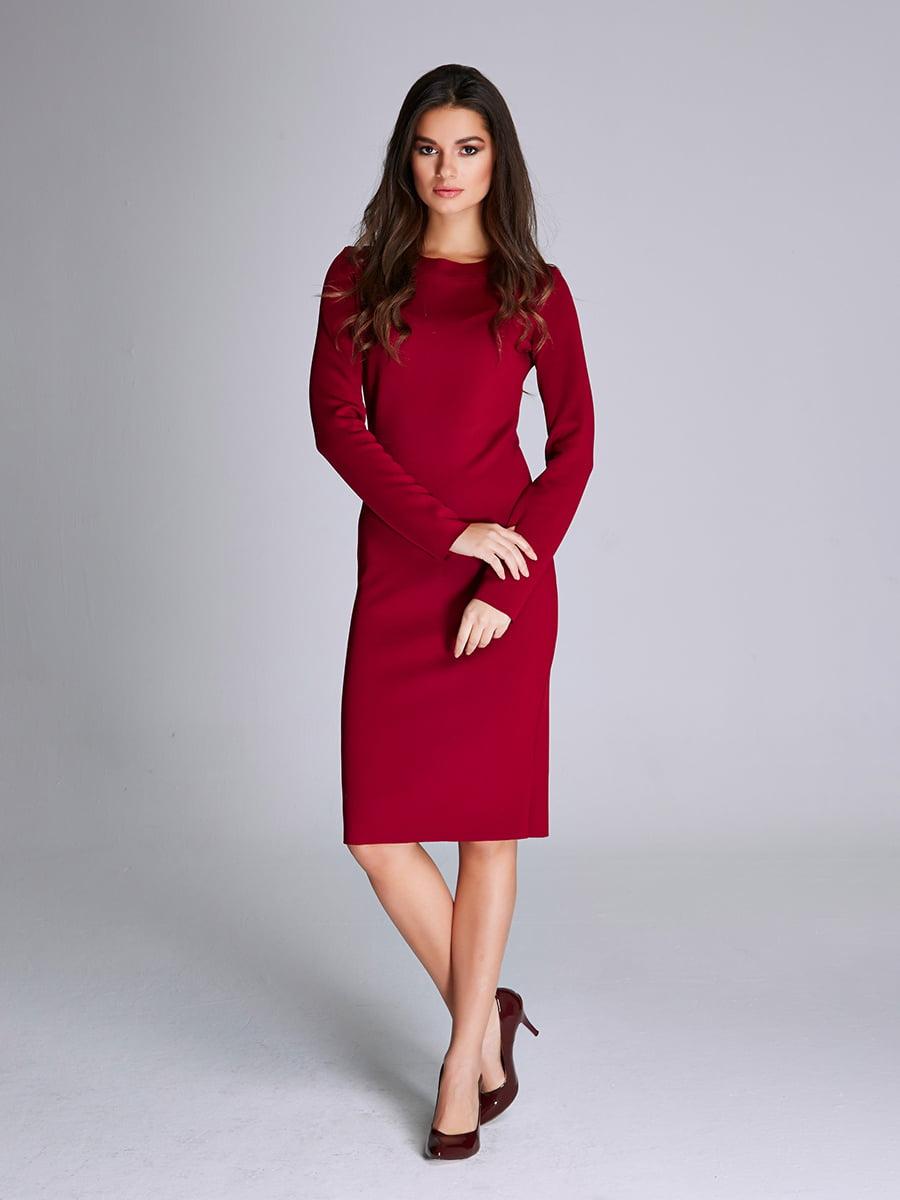 Платье бордовое | 5268547