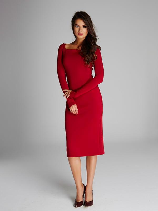 Платье бордовое | 5268551