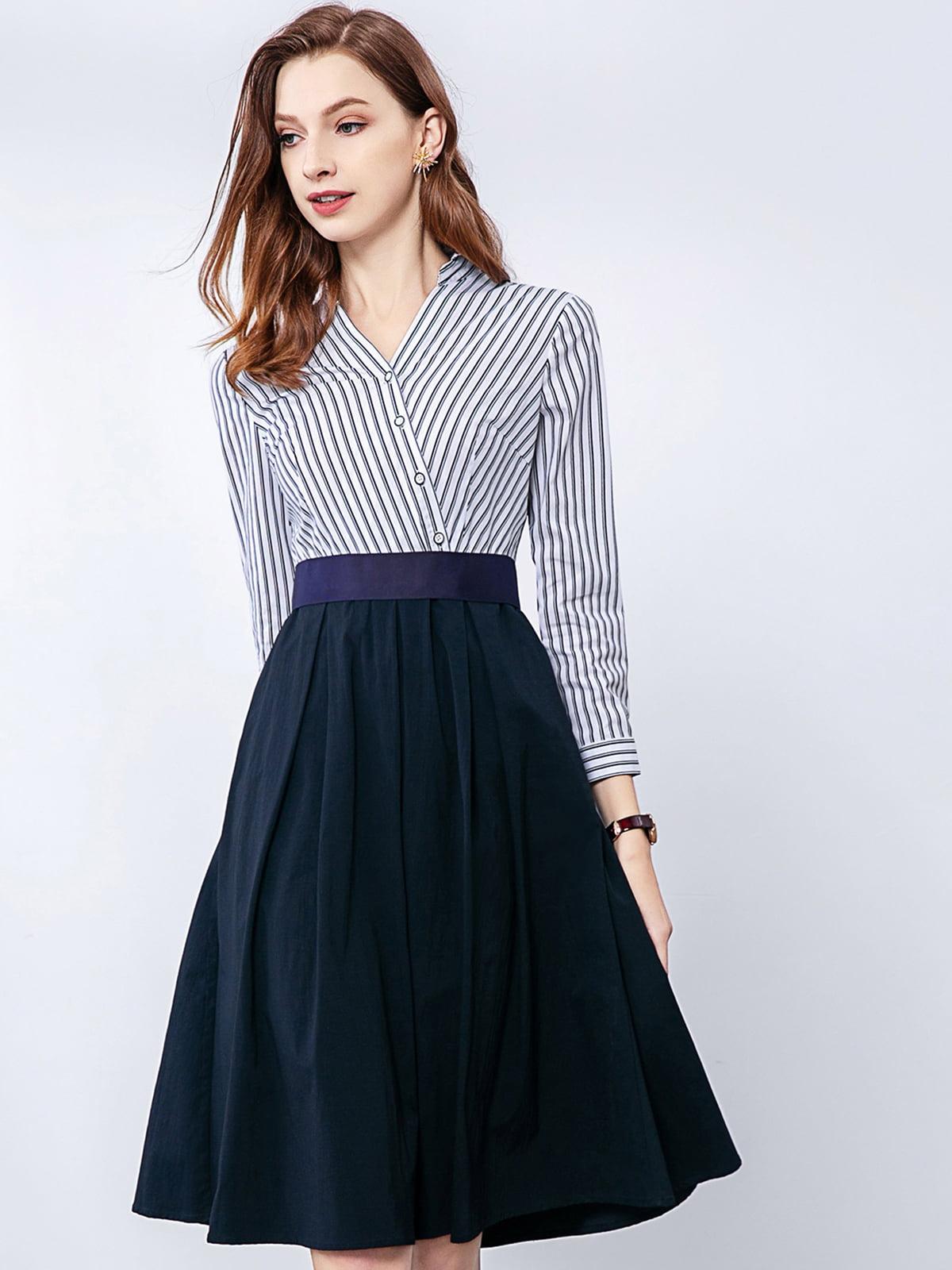 Платье сине-белое   5268675