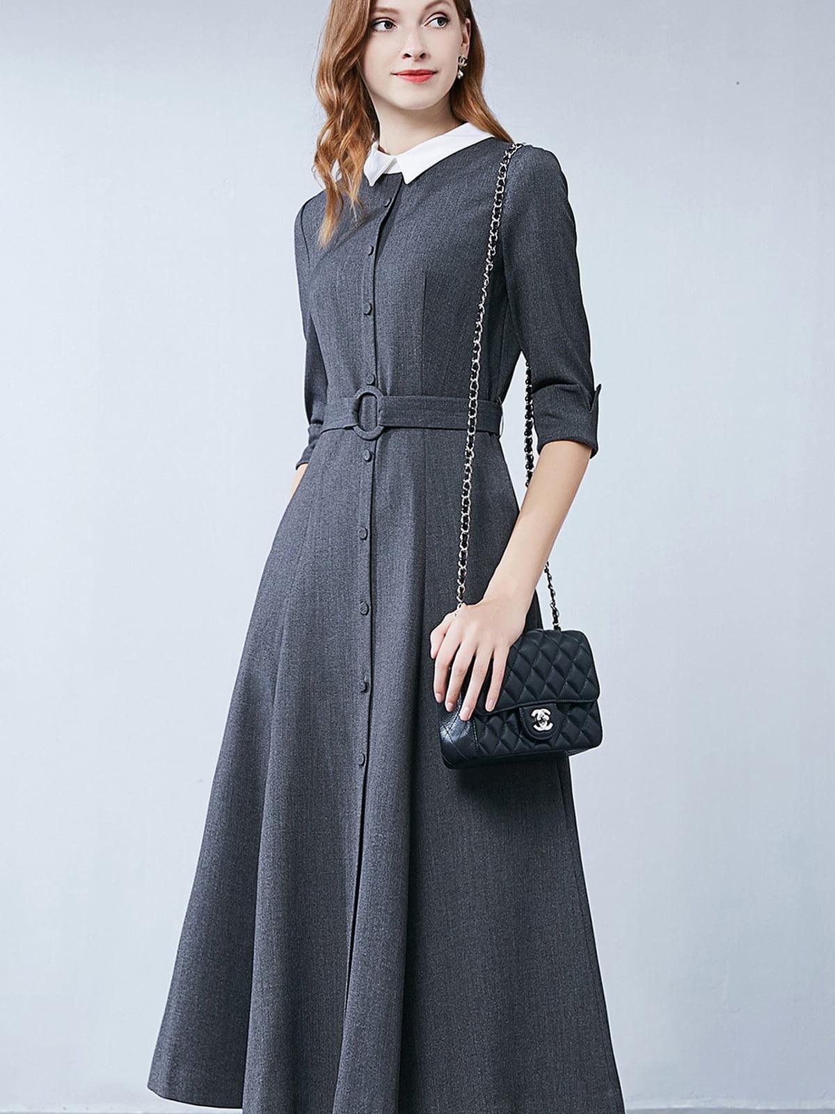 Платье серое   5268730
