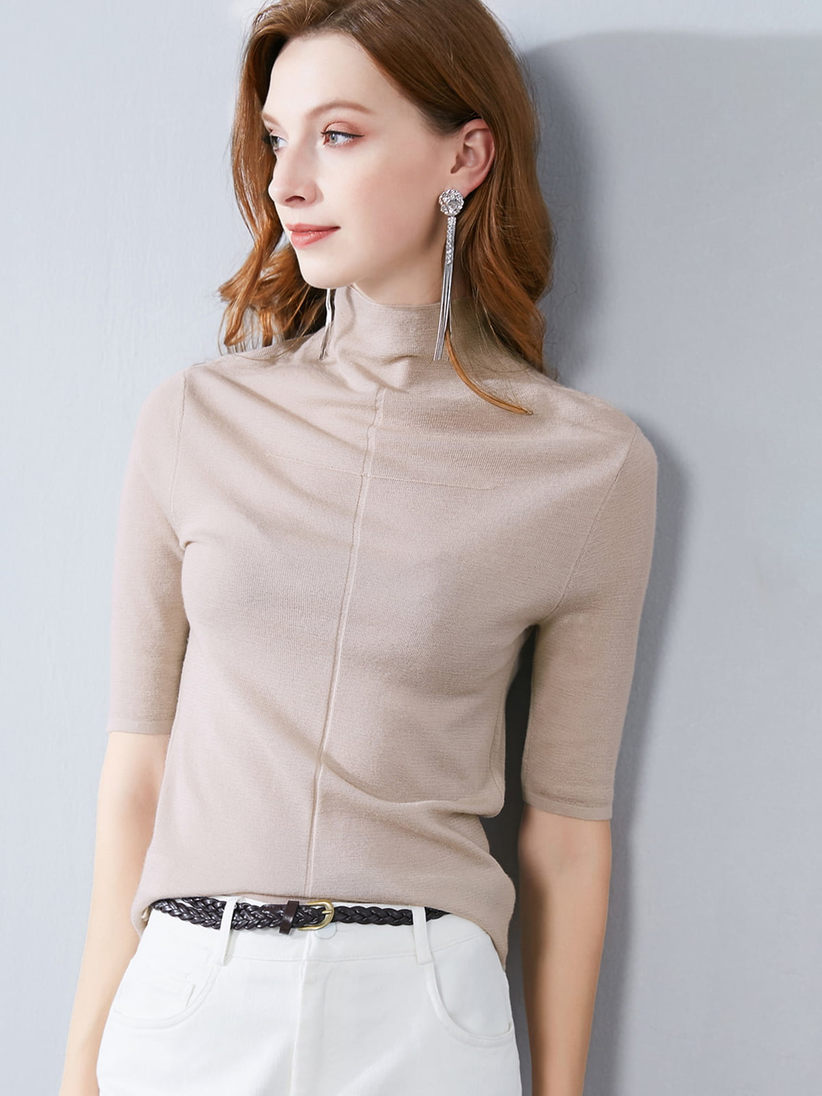 Блуза кофейного цвета   5268768