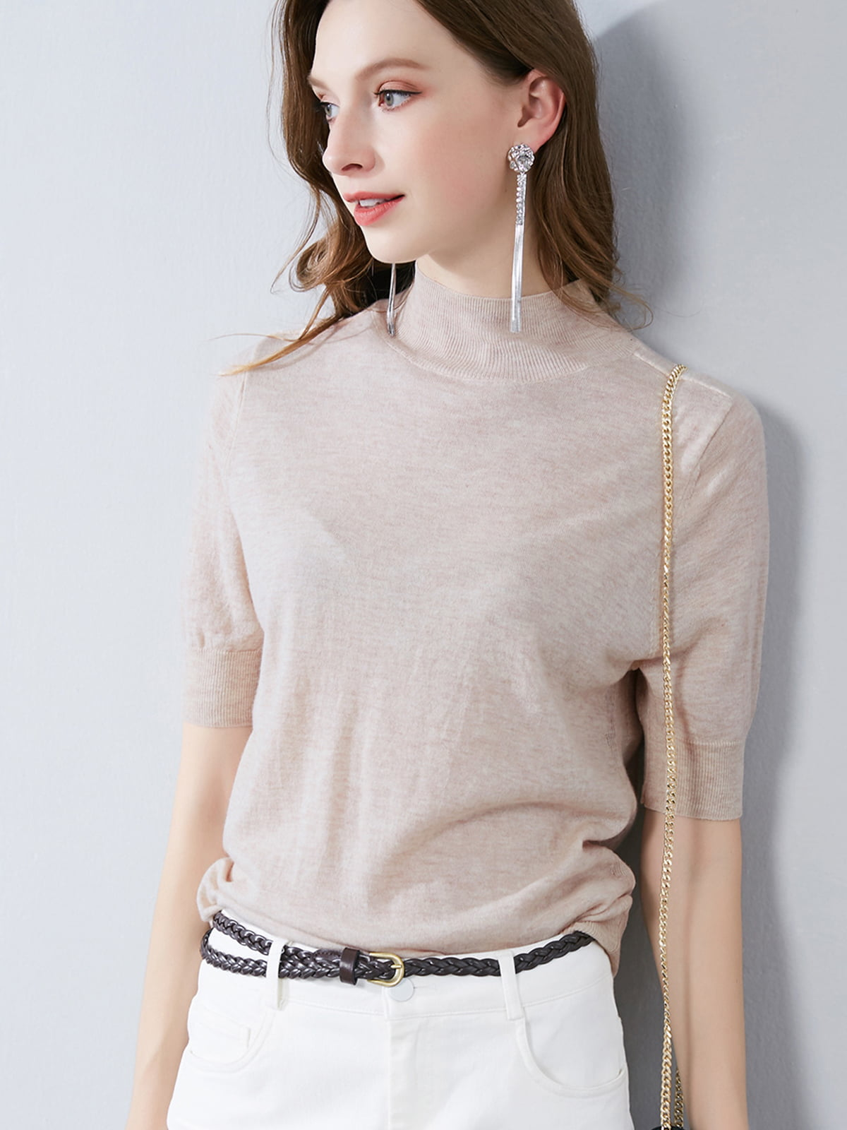 Блуза абрикосового цвета   5268789