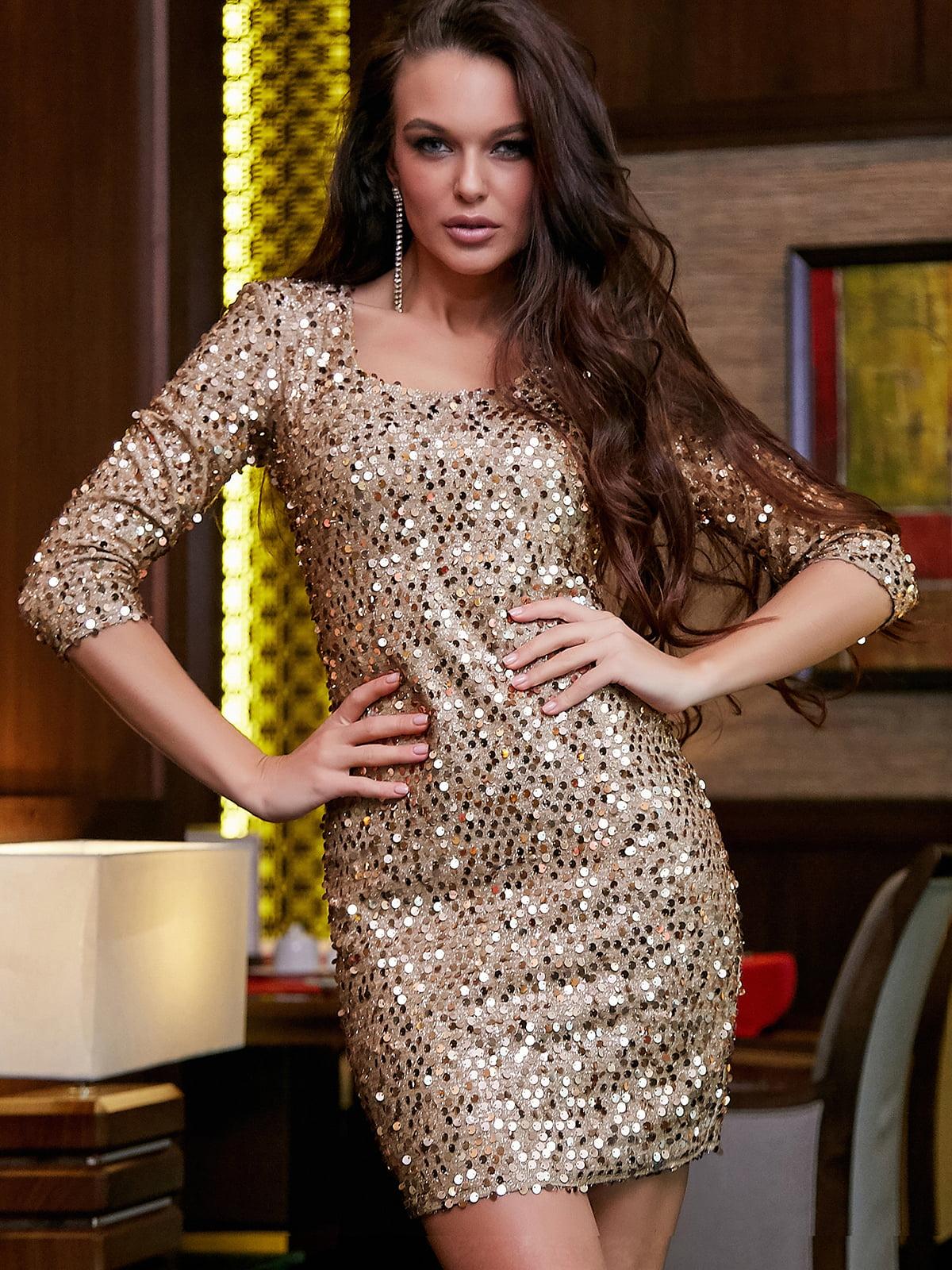 Платье золотистое | 5268799