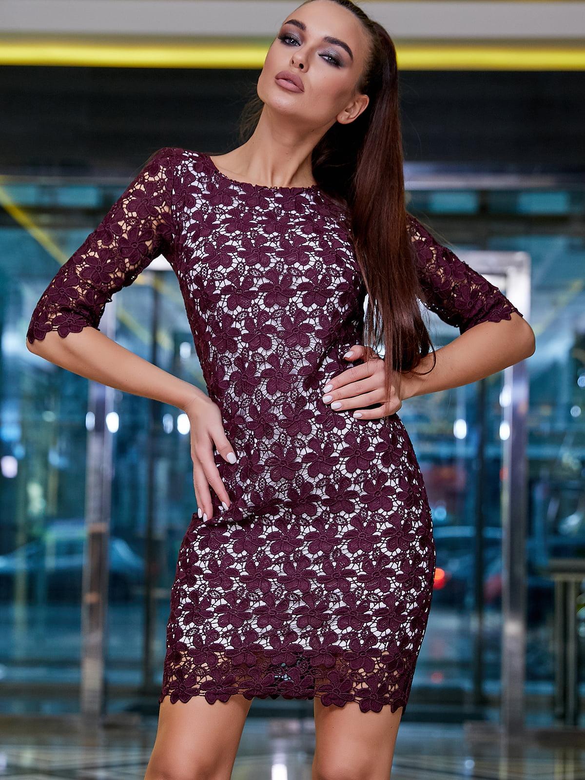 Платье темно-бордовое | 5268830
