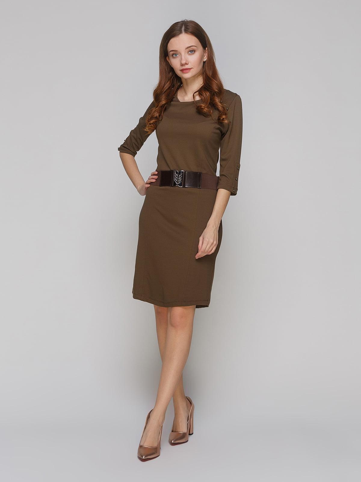 Платье цвета хаки | 5266101