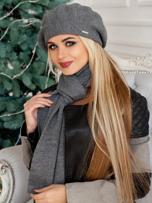 Комплект: берет и шарф   5270768