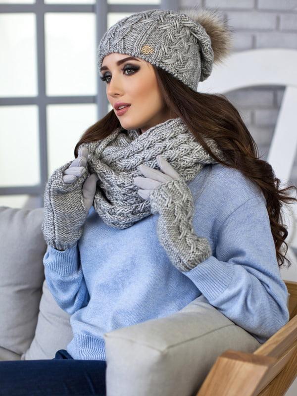 Комплект: шапка, шарф-снуд и перчатки | 5270793