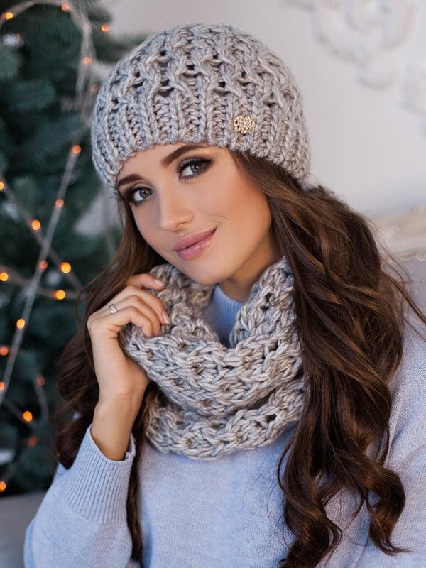 Комплект: шапка и шарф-хомут | 5270948
