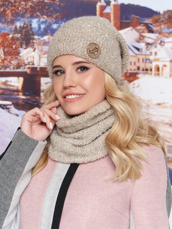 Комплект: шапка та шарф-хомут | 5271046