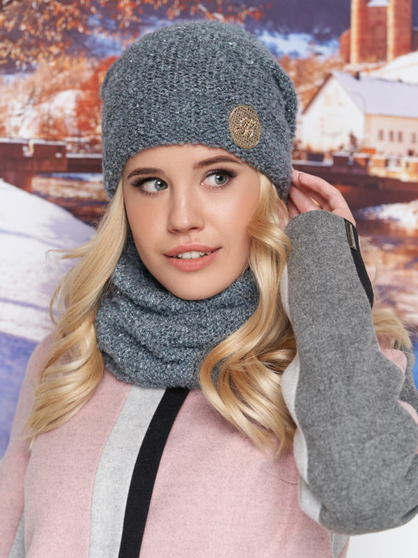Комплект: шапка и шарф-хомут | 5271048
