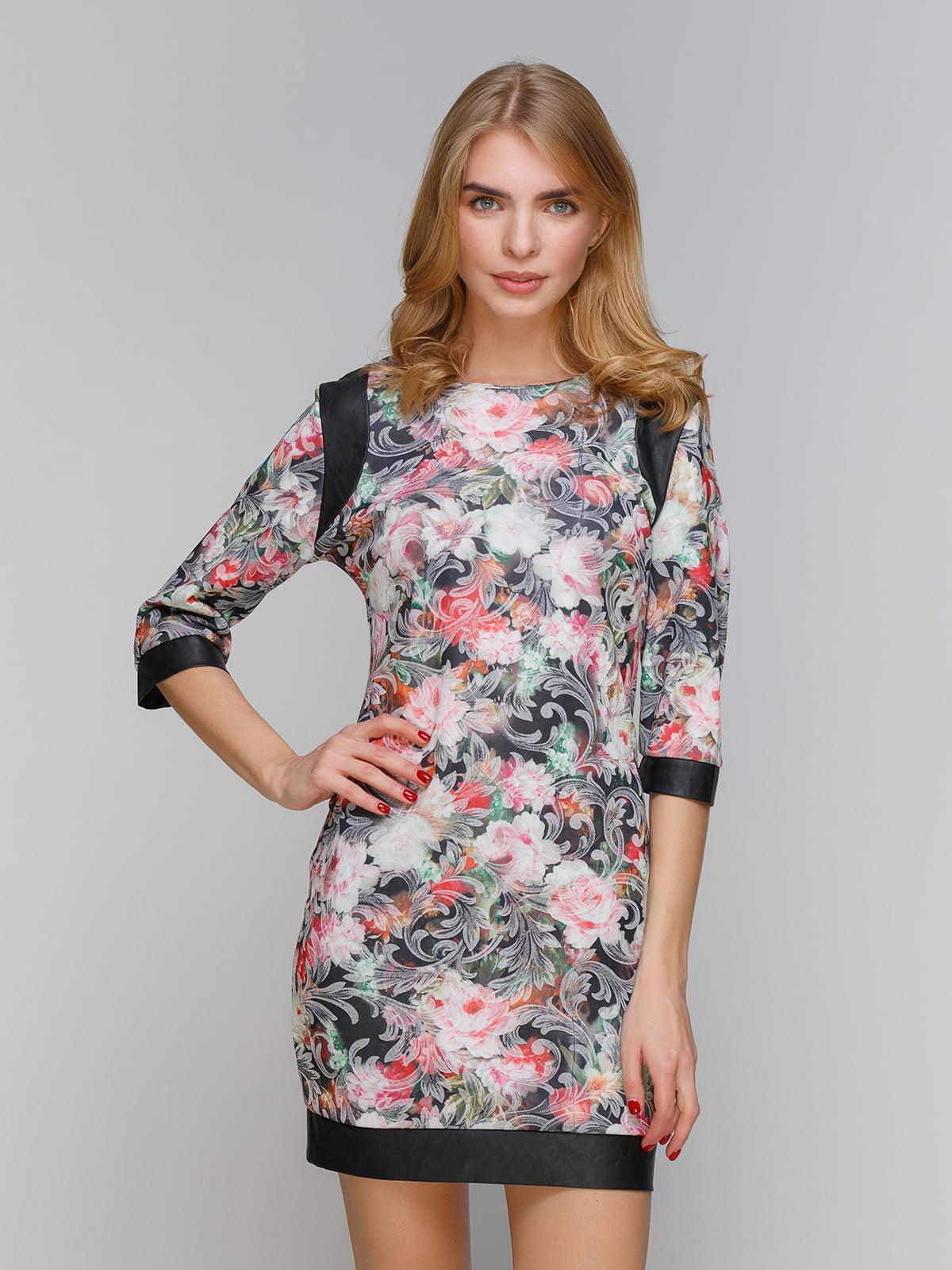 Платье черно-розовое   5266088