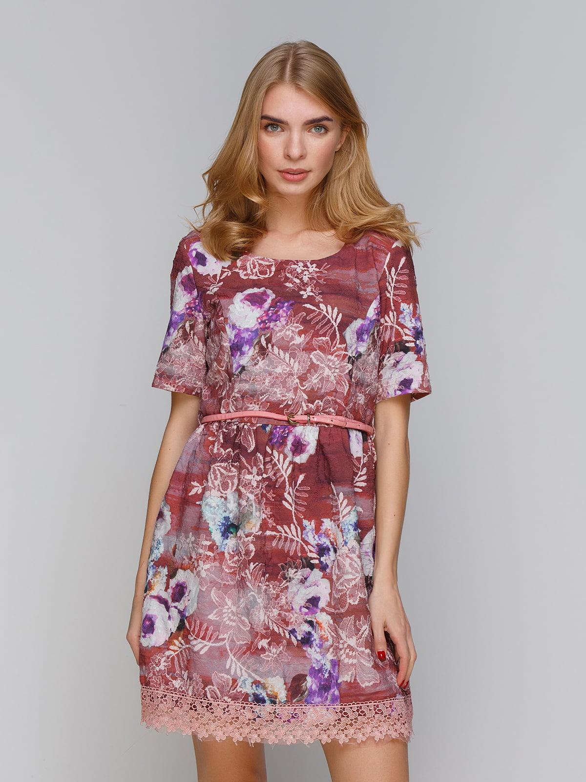 Платье темно-розовое | 5266114