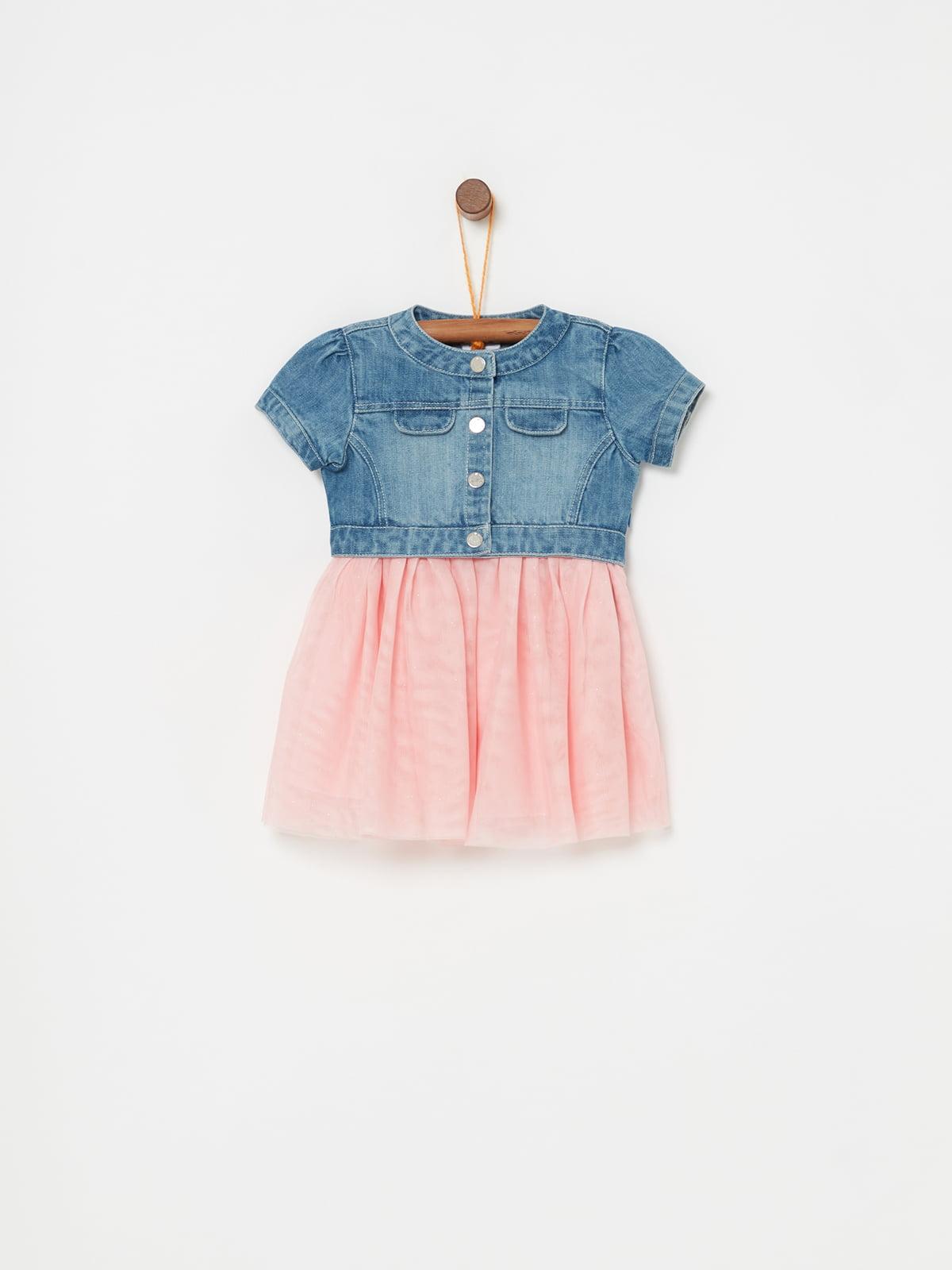 Сукня рожево-синя | 5161693