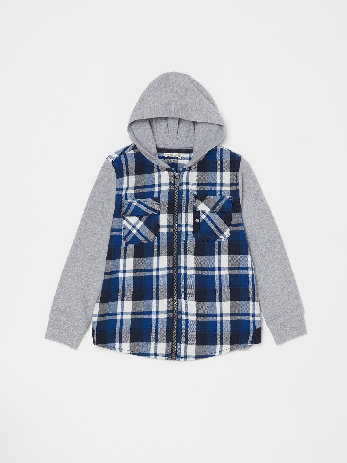 Сорочка сіро-синя | 5201060