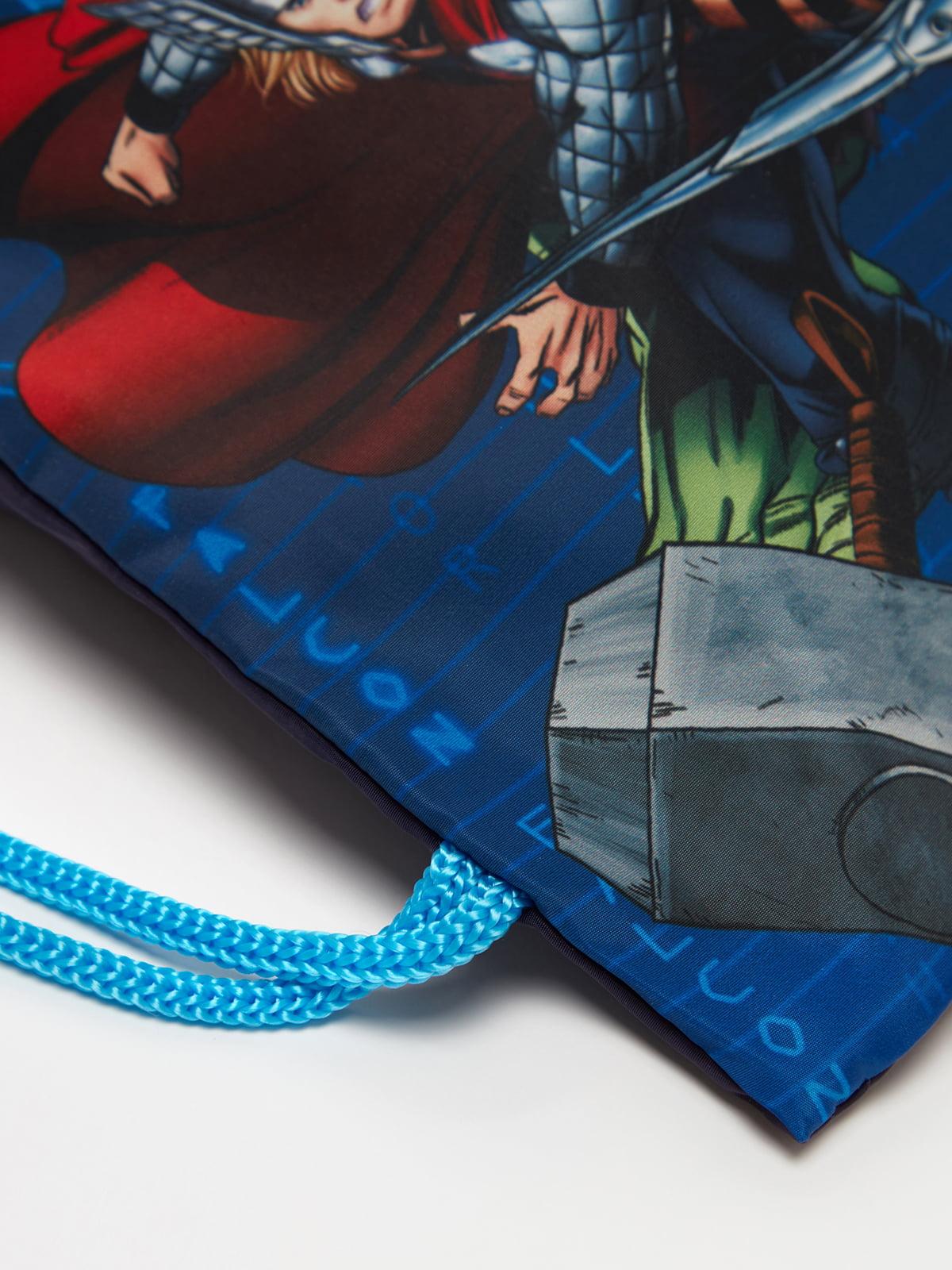 Мішок для взуття синій   5201235
