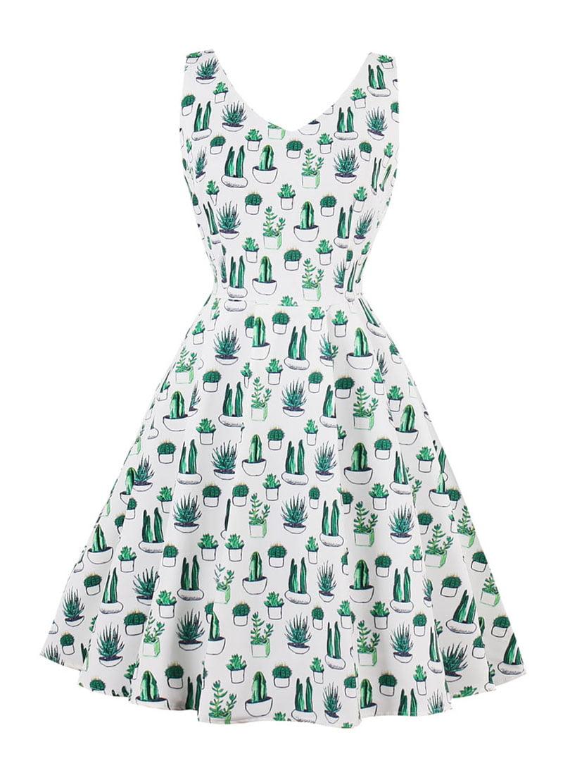 Сукня біла в принт | 5261422