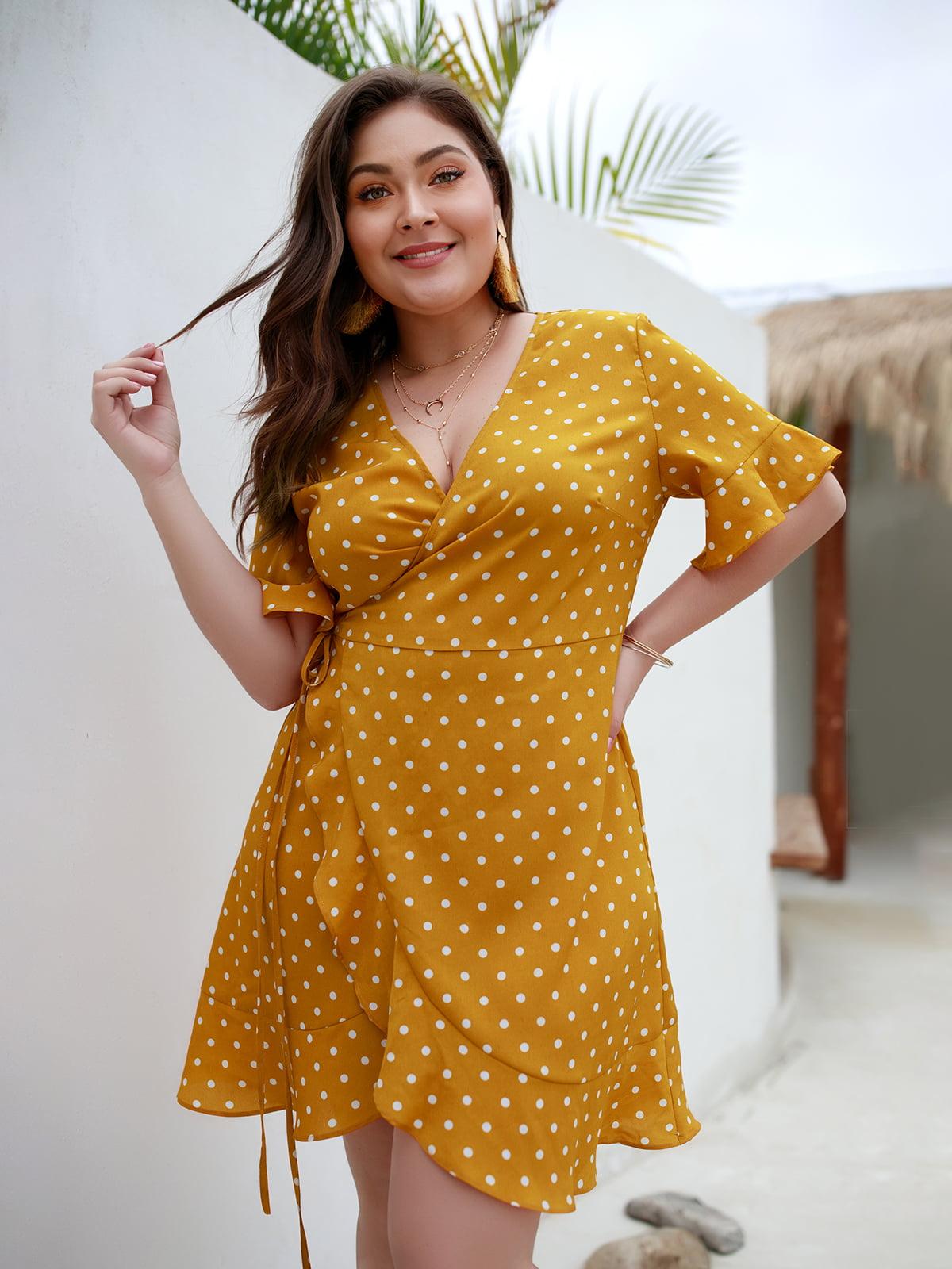 Сукня жовта в горошок | 5261520